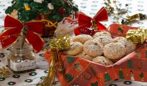 Petits sablés fourrés à la confiture Noël enchanté