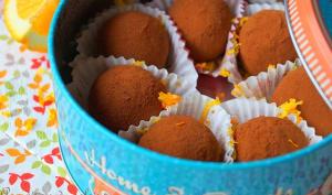 Truffes au chocolat et à l'orange