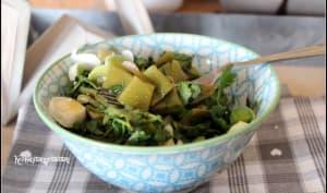 Salade de Haricots Plats à la coriandre