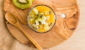 Verrine kiwi chocolat et mangue