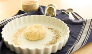 Pâte à tarte brisée vegan à l'huile d'olive et à l'origan
