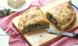 Chausson au brocoli, poulet et maroilles
