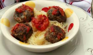 Saghettis végétaux aux boulettes