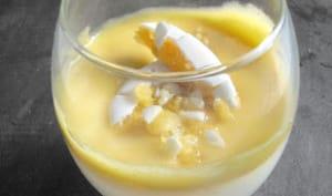 Panna Cotta, Crème de Calisson, Citron Vert et Amaretto