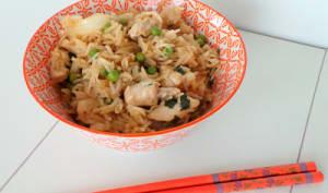Riz façon asiatique au poulet