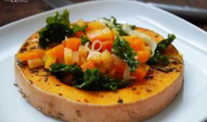 Butternut rôtie au romarin et sa brunoise de légumes d'hiver