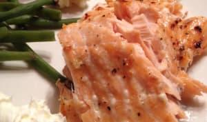 Filet de saumon aux zestes de clémentine