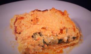 Lasagnes, courgettes, poivron, chèvre et chorizo