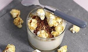 Crème de nougat au pop-corn