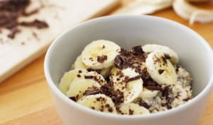 Porridge de l'hiver banane chocolat