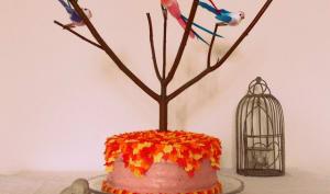 Layer cake aux oiseaux fraise citron