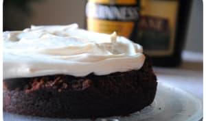 Guinness cake au chocolat et crème mascarpone