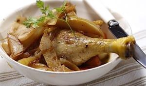 Cuisses de canard confites aux navets