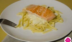 Tagliatelles au saumon et à la crème de citron