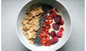 Smoothie bowl banane et lait de soja vanille