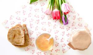 Gelée de pommes à l'eau de rose