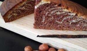 Gâteau marbré gianduja vanille