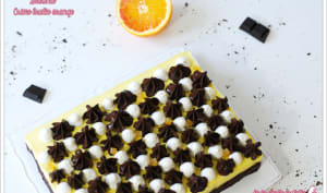 Brownie et crème brûlée orange