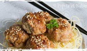 Boulettes de dinde à la chinoise
