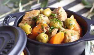 Mijoté de Veau aux olives vertes