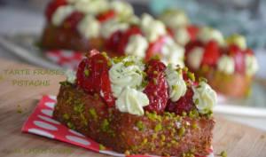 Tarte fraises pistache de Michalak