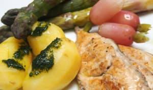 Filets de maquereau aux légumes de printemps