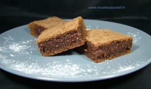 Brownies fondants au chocolat et amandes