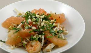 Salade vietnamienne au pamplemousse