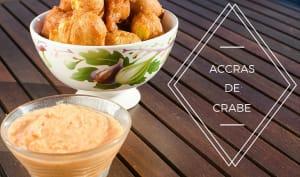 Accras de crabe sauce rougail