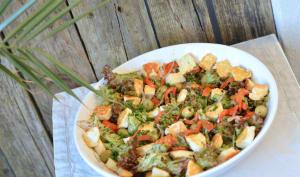 Salade au Halloumi et poivron grillés