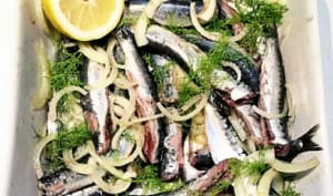 Des sardines marinées à la plancha