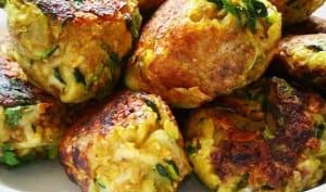 Boulettes végétariennes courgettes, oignons et curry