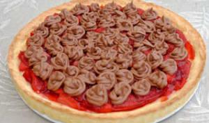 Tarte aux fraises et ganache chocolat