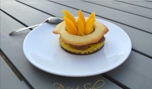 La tartelette au citron, mangue et chocolat