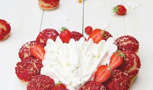 Saint Honoré fraises et vanille