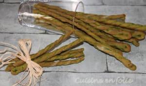 Torsades au persil et aux épinards