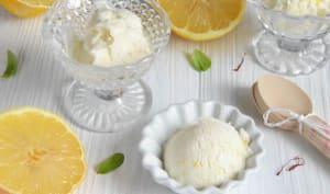 Glace au citron sans sorbetière