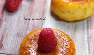 Moelleux aux framboises et fromage blanc
