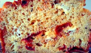 Cake chèvre tomates séchées