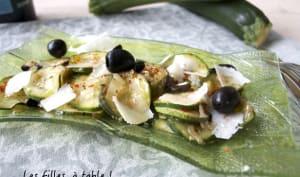 Courgettes aux olives et au parmesan