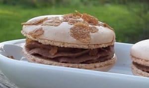 Macarons chocolat gianduja