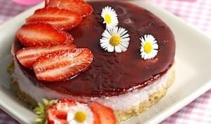 Entremet aux fraises et au yaourt