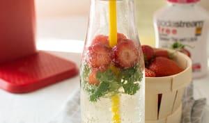 Eau gourmande fraise, litchi, thé vert