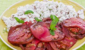 Salade de merlu aux tomates anciennes
