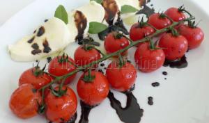 Tomates mozzarella en chaud et froid