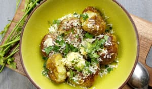 Pommes de terre nouvelles à la gremolata