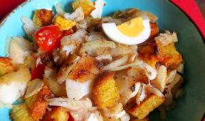 Salada de Bacalhau com Broa