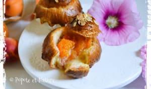 Briochettes parisiennes aux abricots confits et à la crème d'amandes maison