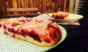 Cake rhubarbe cerises