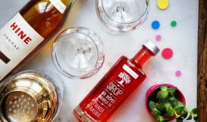 Cocktail Ibérie avec une pointe de basilic